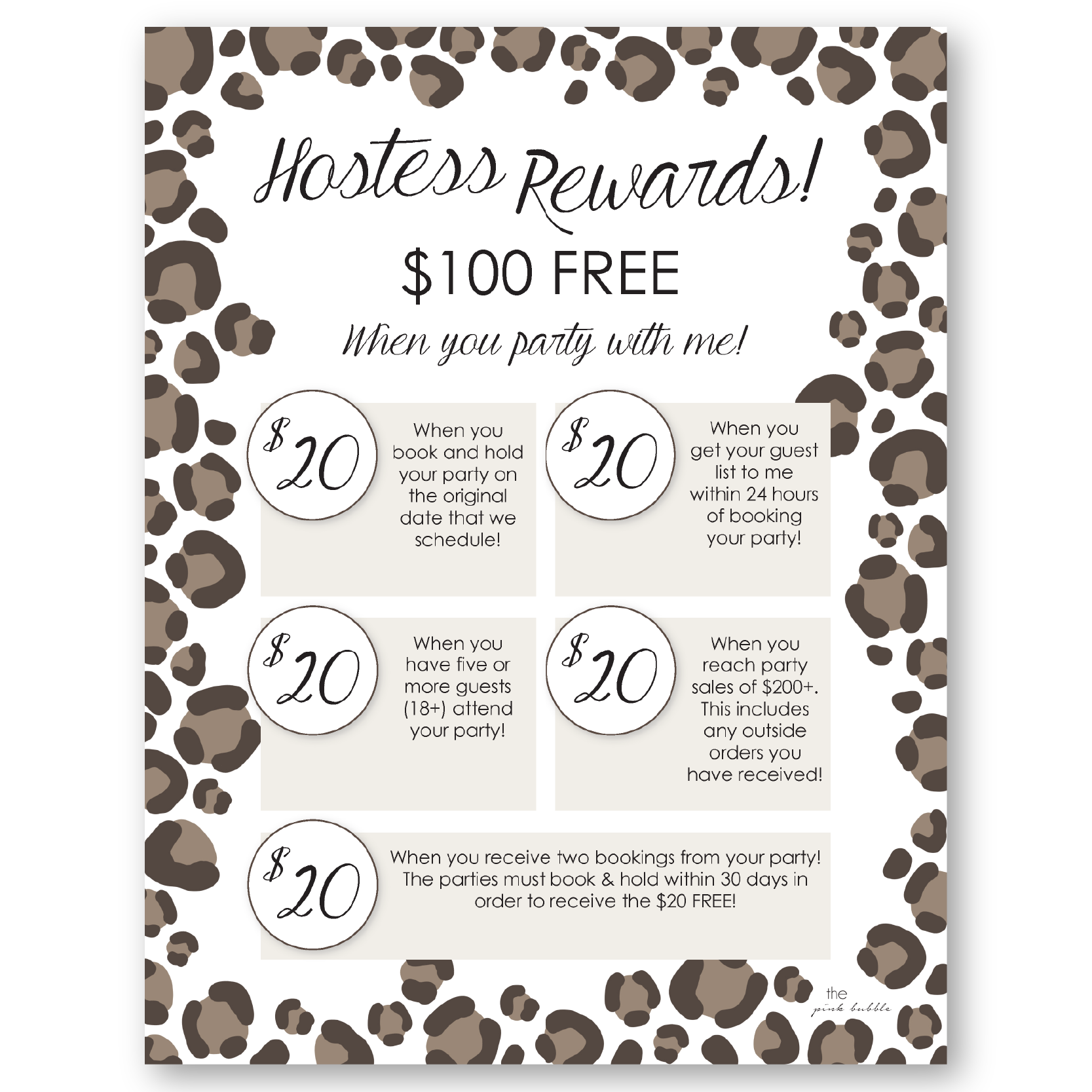 Mary Kay Skin Care Class Hostess Rewards Sheet Customize How Much They Earn And How They Earn It Mary Kay Hostess Packet Mary Kay Hostess Mary Kay Marketing