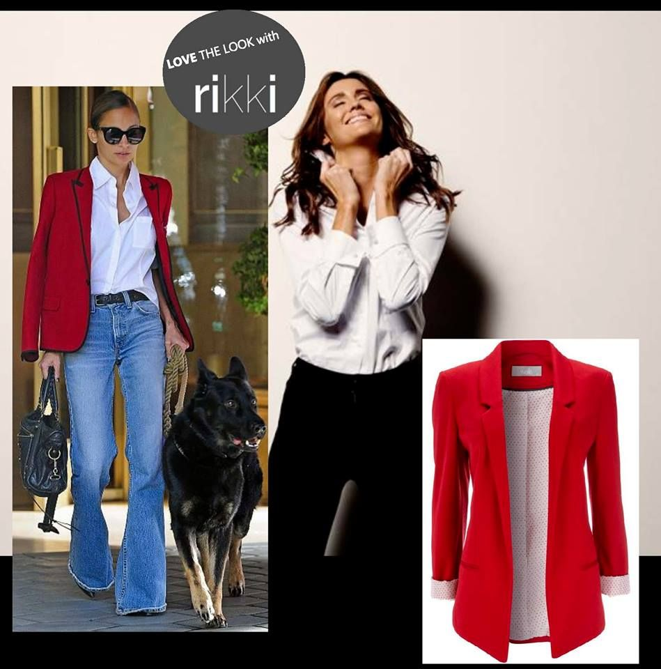 Nicole knows how to walk the dog in style!  Team one of rikki's classic 'Pure White' business shirts with jeans and a tailored jacket for a classic, effortless look, just like Nicole's.
