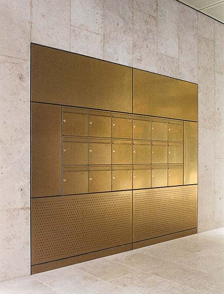 brass wall mailboxes | hotel lobby | Pinterest | Walls Lobbies and Interiors & brass wall mailboxes | hotel lobby | Pinterest | Walls Lobbies ...