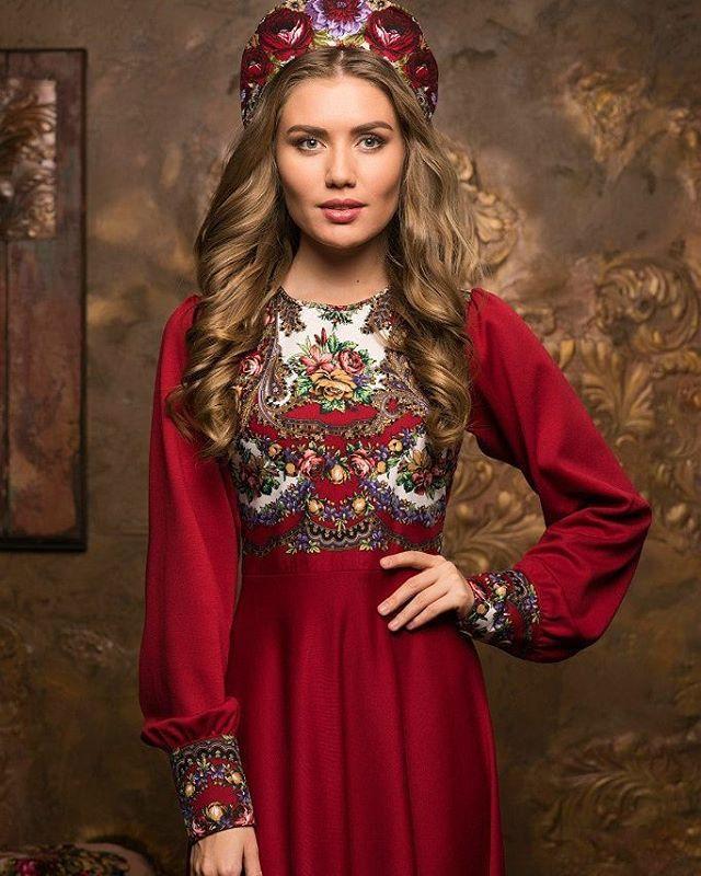 современный русский народный костюм фото этом фоне смело