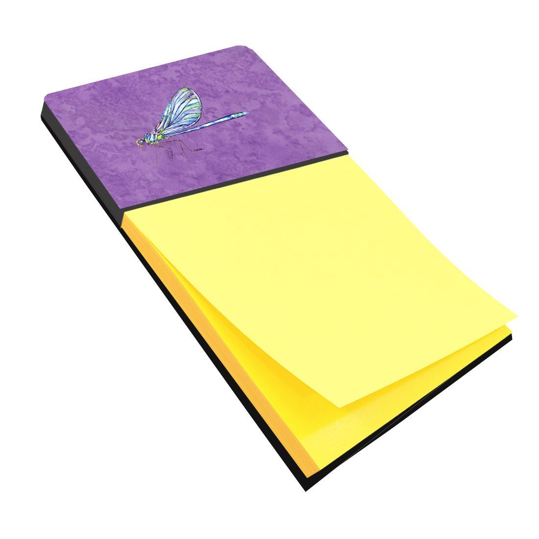 Dragonfly on Purple Refiillable Sticky Note Holder or Postit Note Dispenser 8865SN