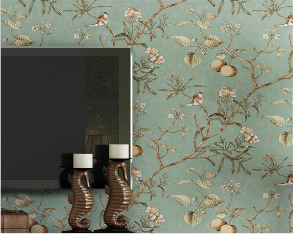 Beibehang American Wallpaper Birds And Birds 3d Wallpaper Li