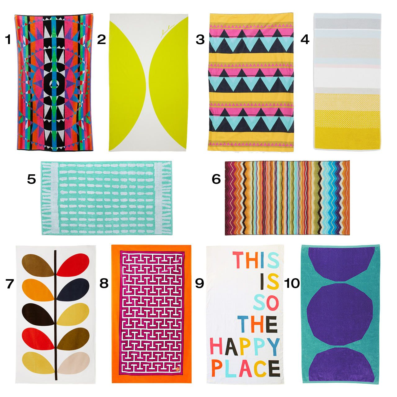 10 Colorful Modern Beach Towels Goruntuler Ile Havlular