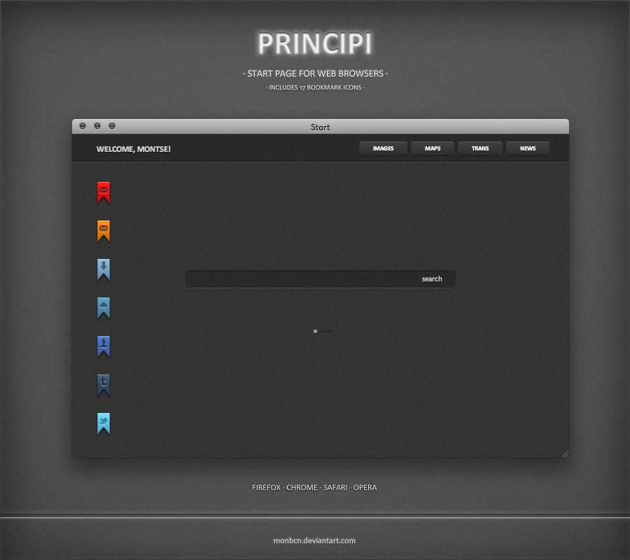 Principi Start Page by Monbcn.deviantart.com on @deviantART