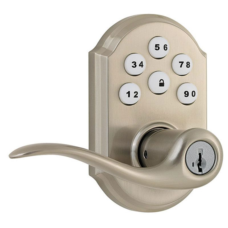 Weiser Smartcode 5 Touchpad Electronic Lever With Images Kwikset Electronic Deadbolt Door Levers