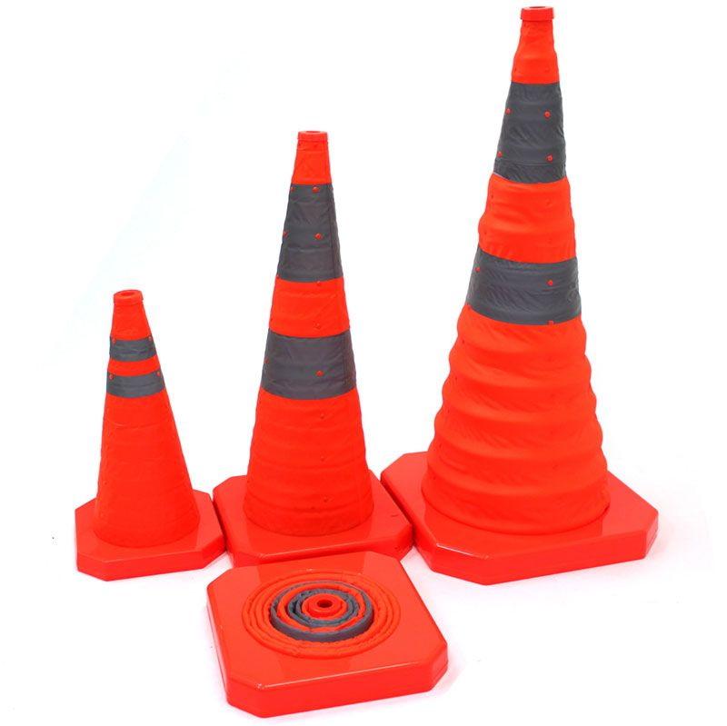 Collapsible Traffic Cone Is Designed To Be Retractable It Is One Of The Most Convenient Type Of Traffic Cone With Its Top Can Be Eq Cone Cones Warning Lights