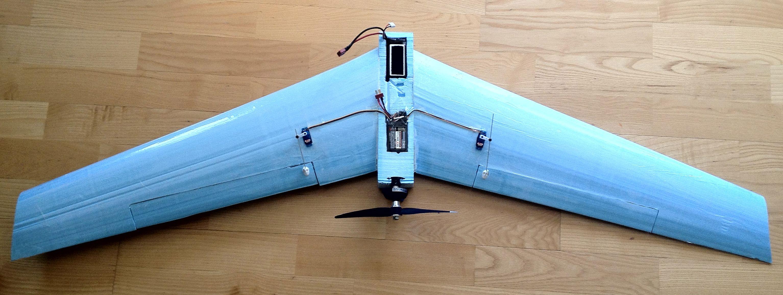 Self Built Flying Wing Flying Wing Diy Drone Diy Wings