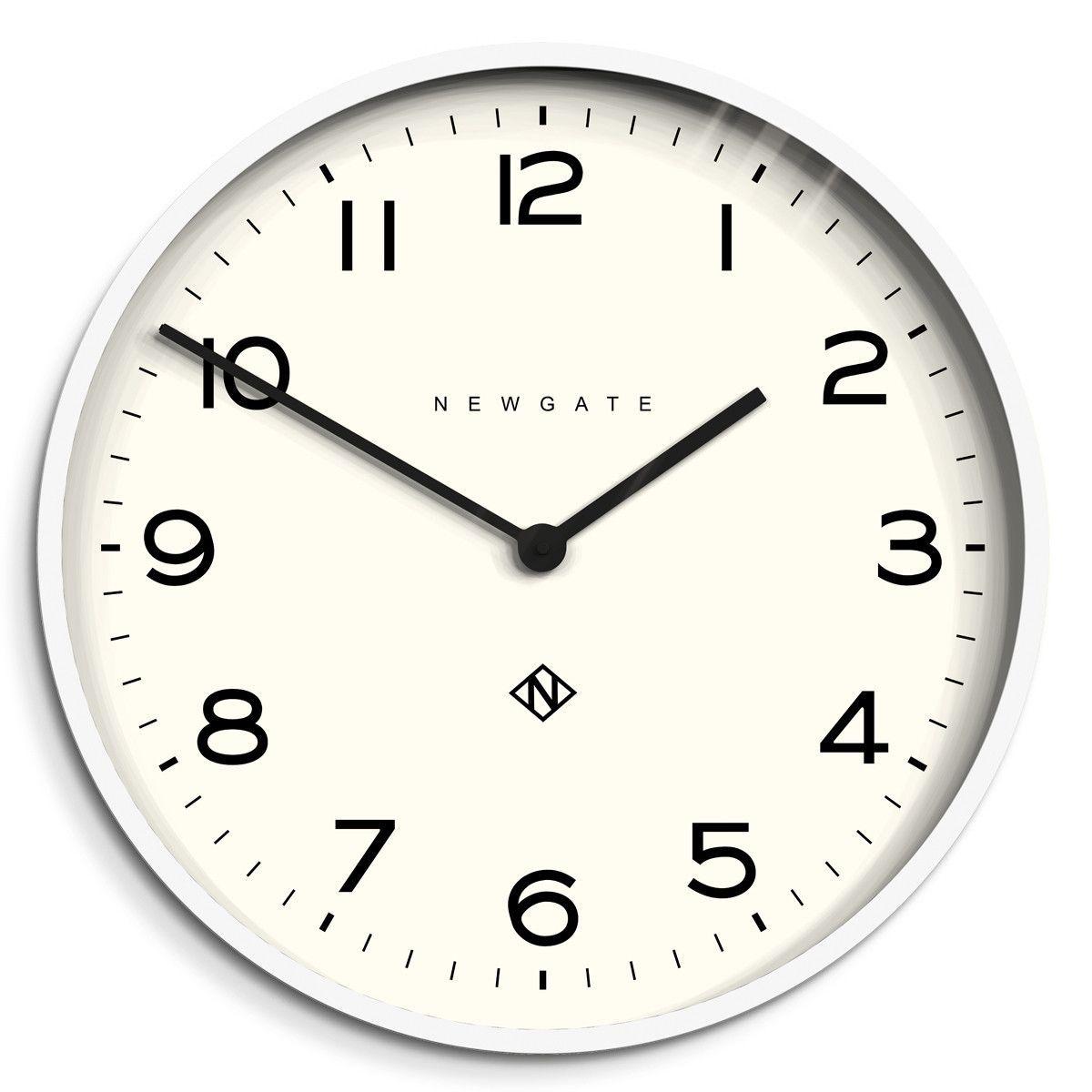 Large Modern White Kitchen Wall Clock Newgate Echo Number One