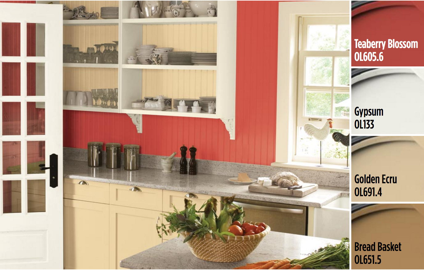 Create Your Charming Kitchen With Paint Colors From Olympic® Paints. Let A  Bold,