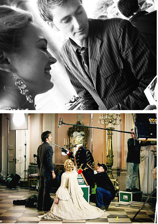 David and Sophia BTS The Girl In The Fireplace