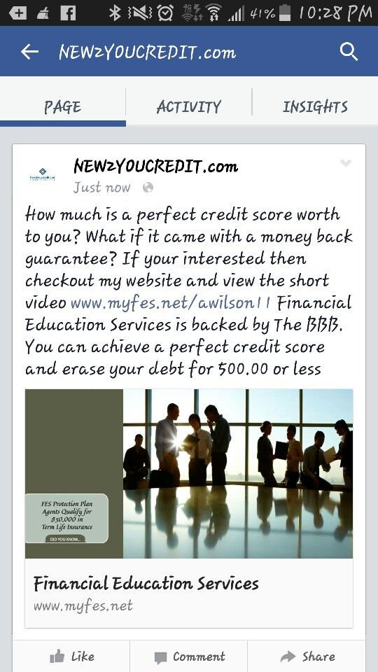 Www Myfes Net Awilson11 Financial Education Credit Score