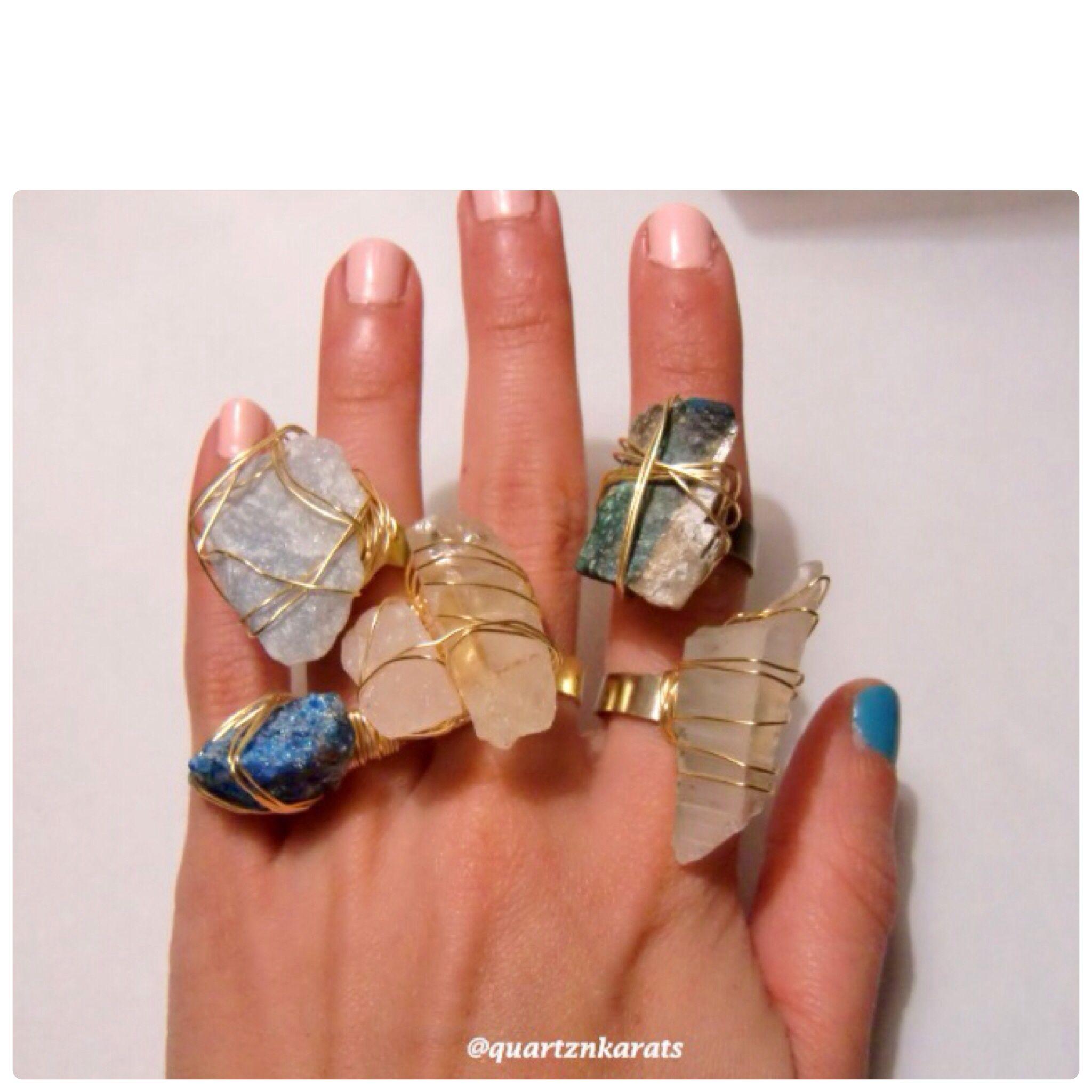Www.etsy.com/shop/quartznkarats #crystal #trendy #rings #jewelry #etsy #shop #wire #wrapped #raw #healing #gems #christmas #gift