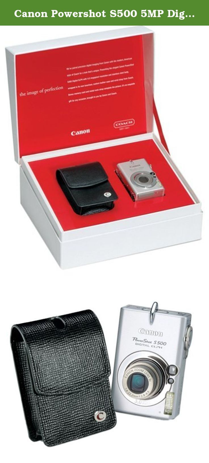 Canon Powershot S500 5mp Digital Elph With 3x Optical Zoom Coach Edition A Beautiful Match The Sleek Stainless Stee Coach Leather Powershot Digital Camera