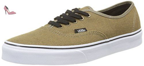 Authentic - Sneakers Basses Mixte Adulte - Noir (Premium Leather) - EU: 36.5 (UK: 4)Vans uyQjH7f8j