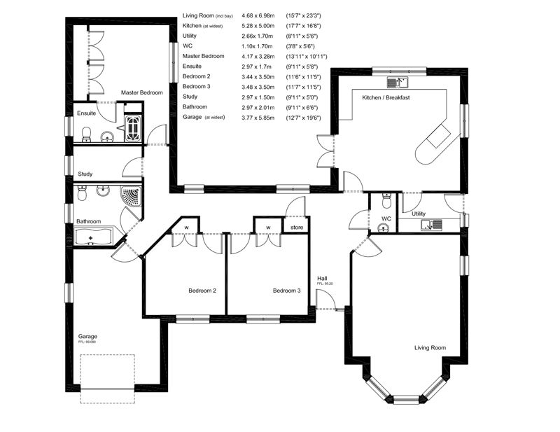 Bungalow Plans And Designs In Uk Plan Click To Enlarge