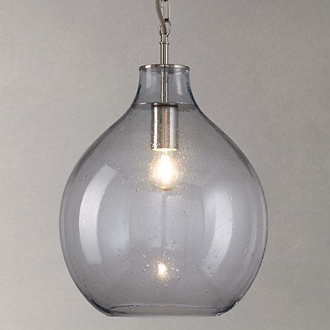 Buy John Lewis Selsey Glass Ceiling Pendant Light Blue Online at johnlewis .com & Croft Collection Selsey Glass Ceiling Pendant Light Blue | Selsey ...