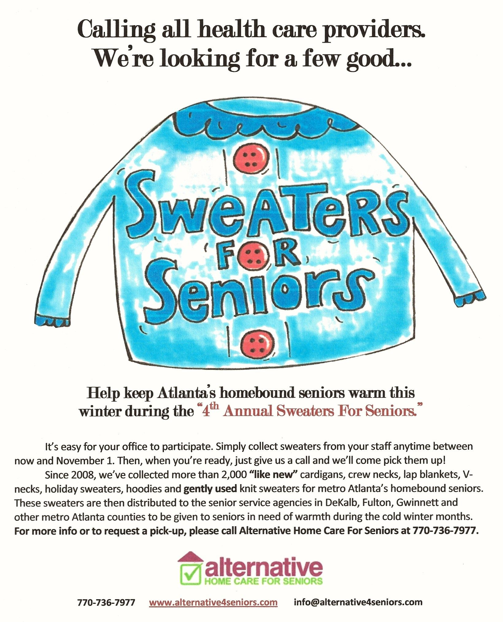 Sweaters for seniors annual event seniors home care care