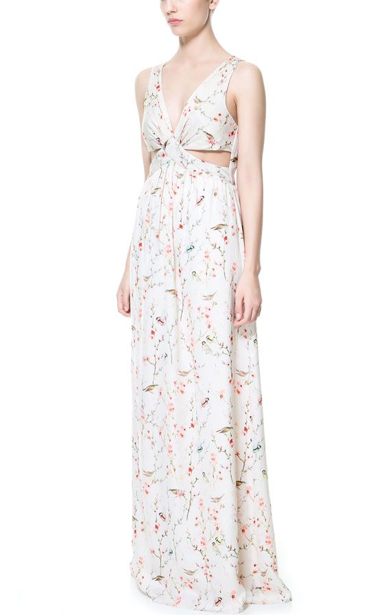 30969504ea Image 1 of LONG CROSSOVER JAPANESE PRINT DRESS from Zara | Birthday ...