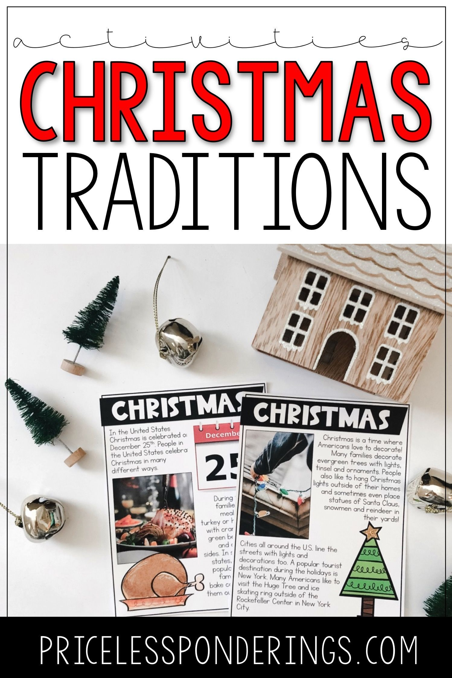 Christmas Traditions Activities And Task Cards