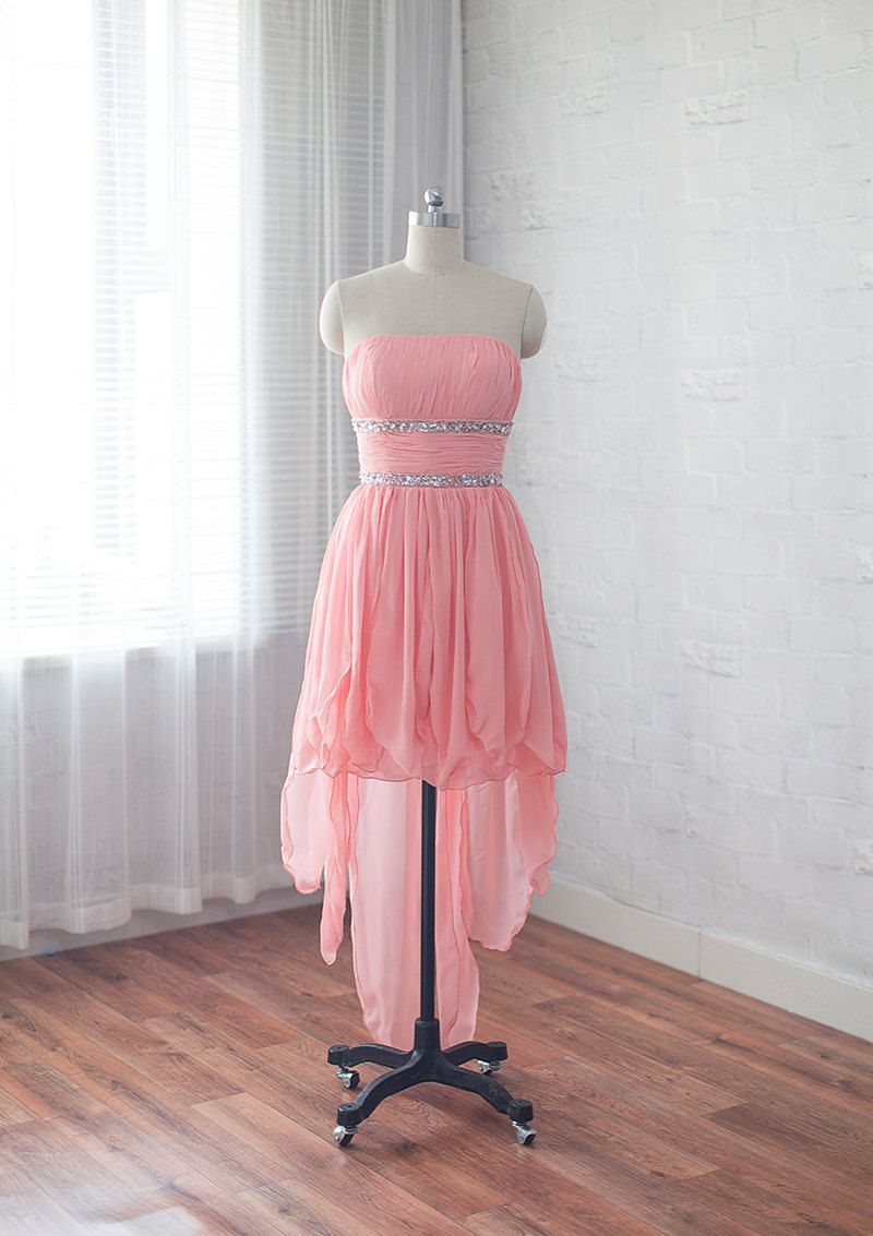 High Low Homecoming Dress,High Low Homecoming Dress,Pink Homecoming ...
