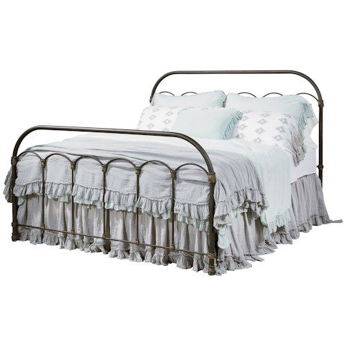 Home Decor Outlet Southaven Ms: Primitive Queen Colonnade Metal Bed By Magnolia Home By
