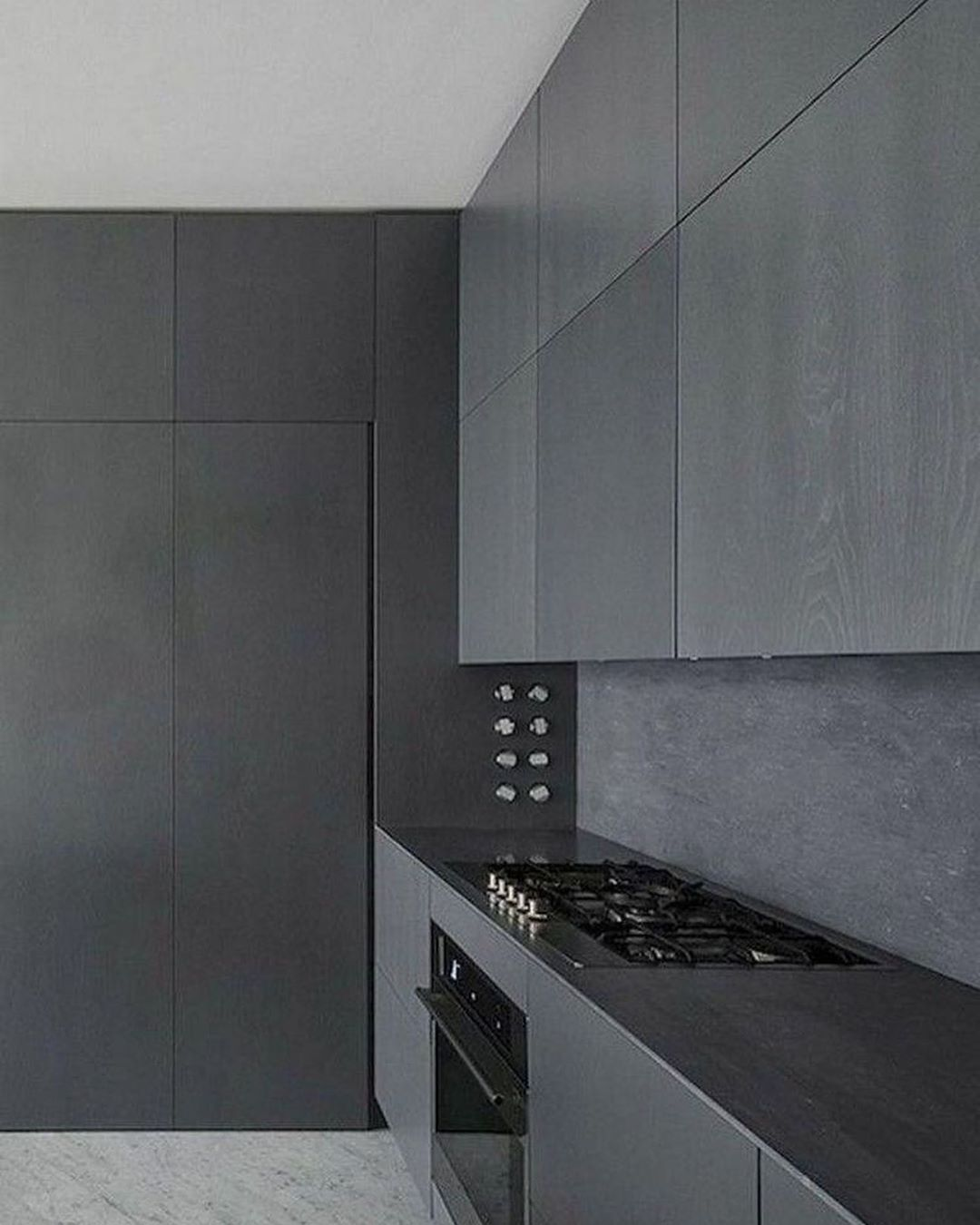Home Inspiration And Ideas On Instagram Kitchen Design Sleek Matt Black Kitchen Design Who Els In 2020 Grey Kitchen Designs Kitchen Design Companies Grey Kitchen