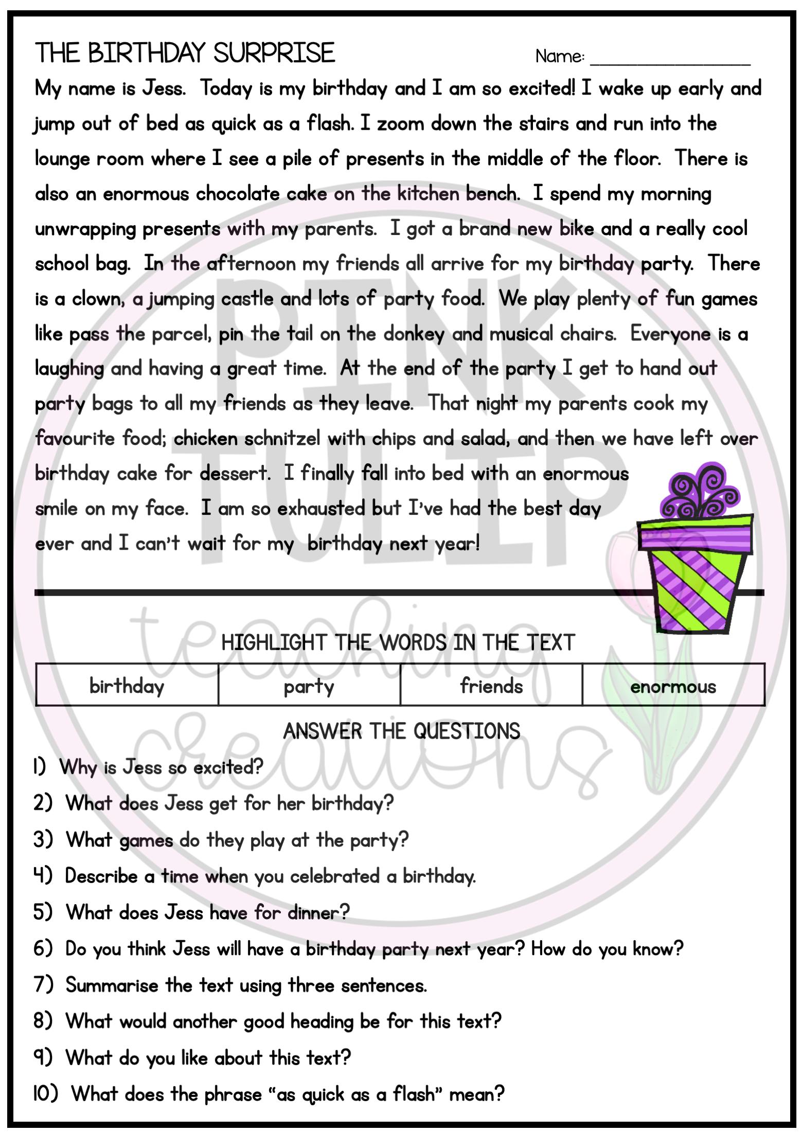 Ten Page Reading Comprehension Worksheet Pack Reading Comprehension Worksheets Reading Comprehension Reading Comprehension Resources [ 2203 x 1557 Pixel ]