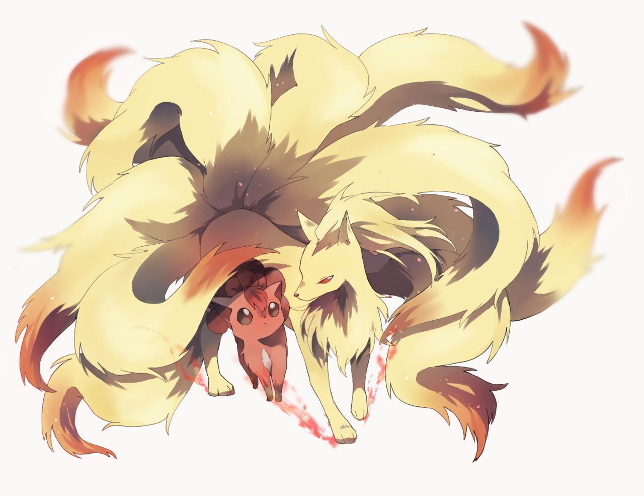 Vulpix Ninetails Ninetales Pokemon Animais Kawaii Imagens De