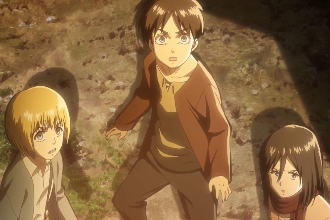 Young Armin Eren And Mikasa Attack On Titan Attack On Titan Anime Anime