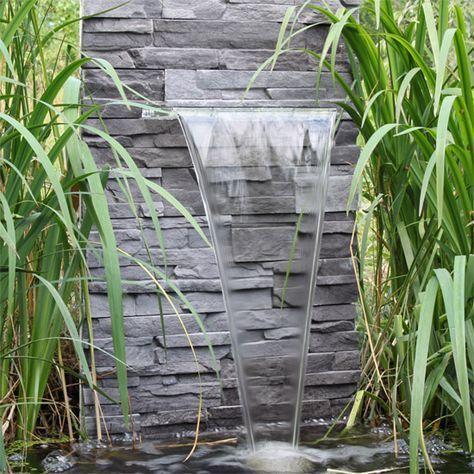 Wasserfall selber bauen - fertig Pool-Terrasse Pinterest Gardens - wasserfall selber bauen