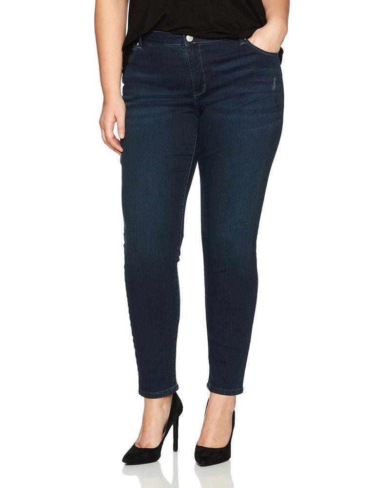 b3a6b0e7 LEE Women's Plus Size Slimming Fit Rebound Skinny Leg Jean, 22 WL  Distressed #LEE #Distressed