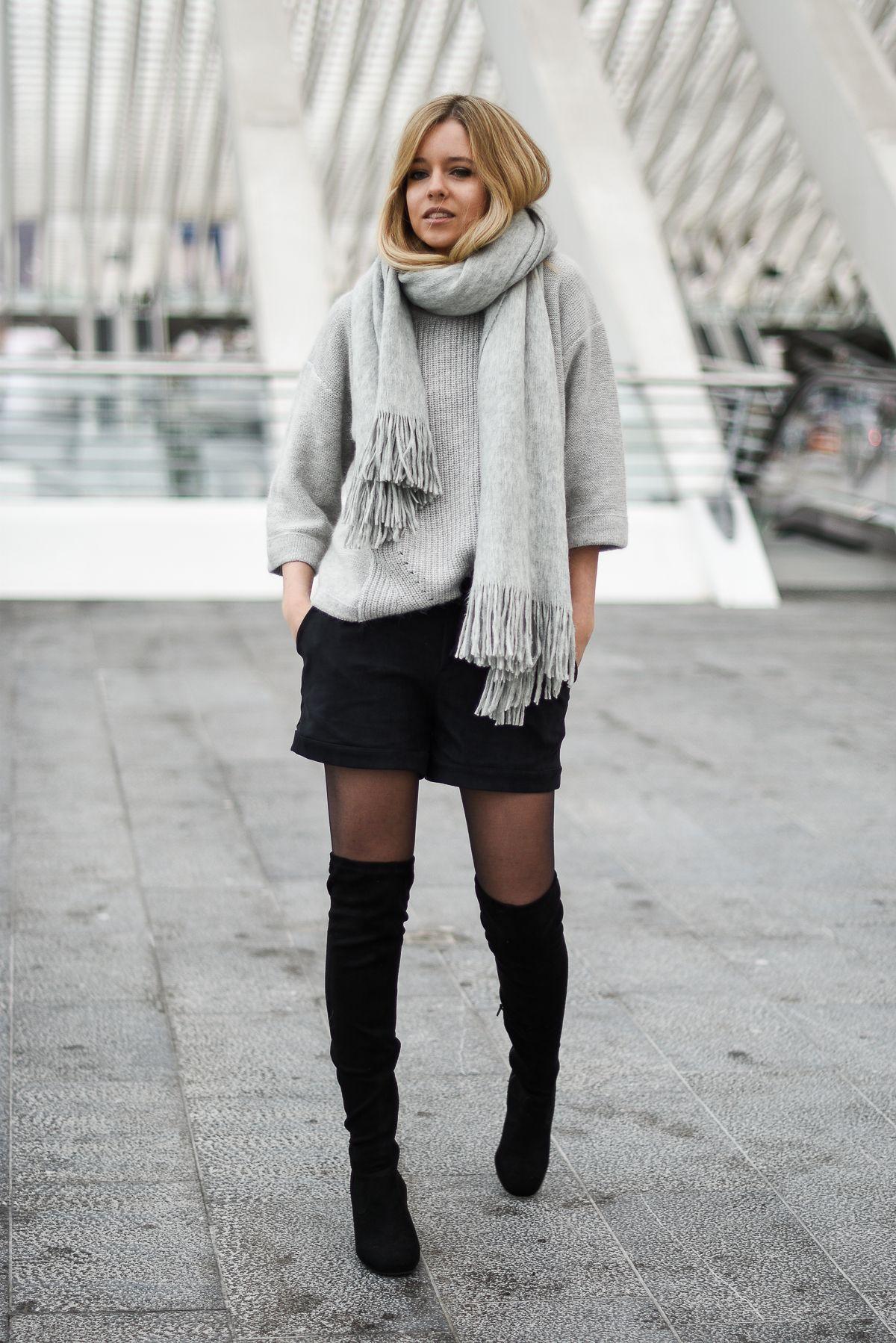 Chic En Short Mode Hivernale Cuissardes Look Mode