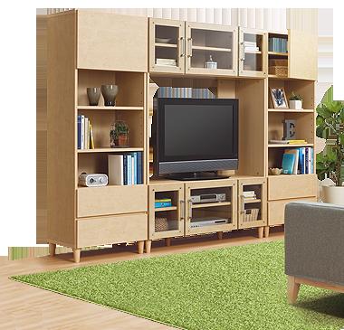 テレビボード ジーン120tv インテリア 家具 自宅で リビング 収納 ニトリ