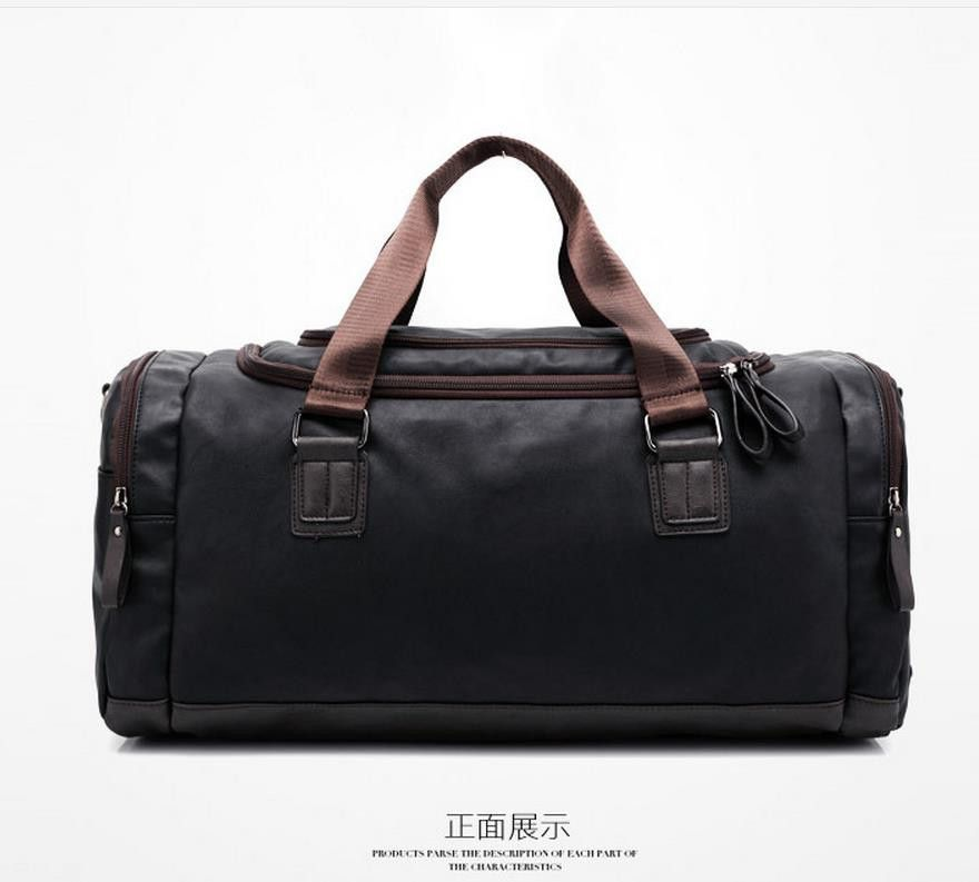 f7952aa0da New Genuine leather travel bag Men duffel bag large capacity bags with  shoulder Strap shoulder bag leahter Handbag for Male