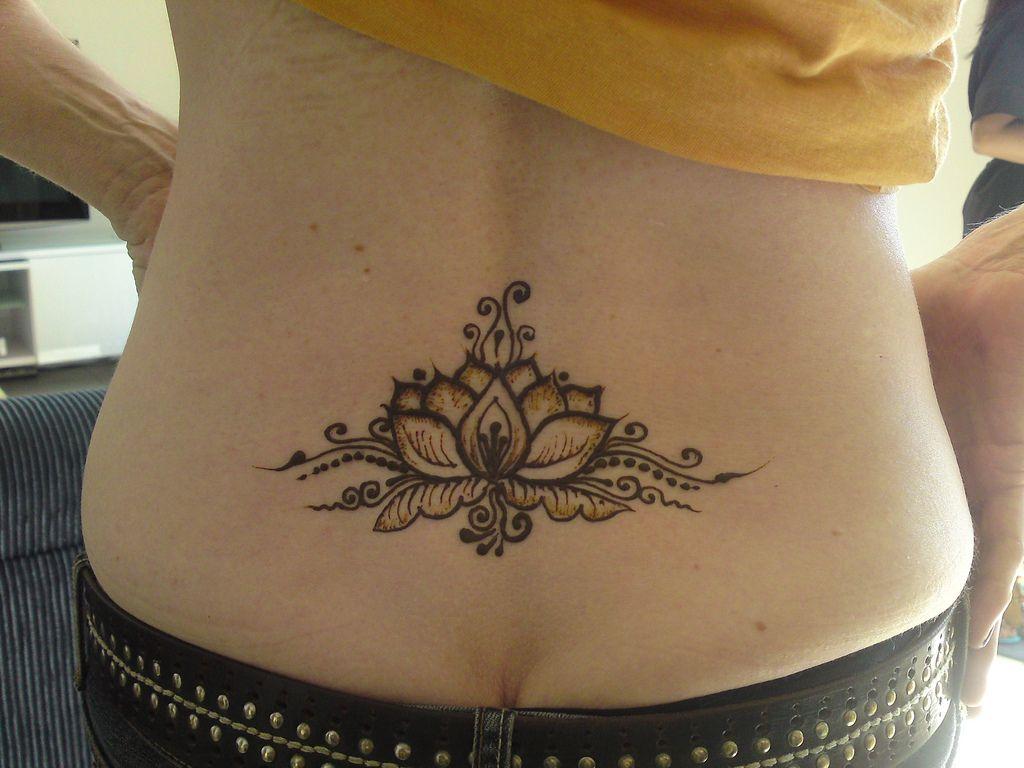 beautiful lotus flower henna on lower back tattoos pinterest. Black Bedroom Furniture Sets. Home Design Ideas
