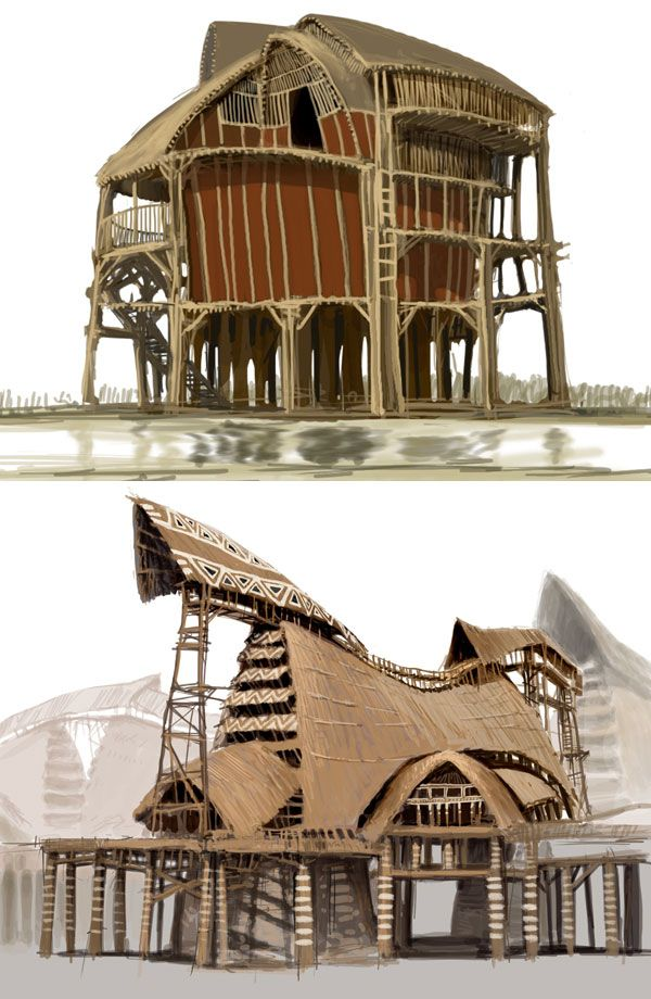 Stilt house art project