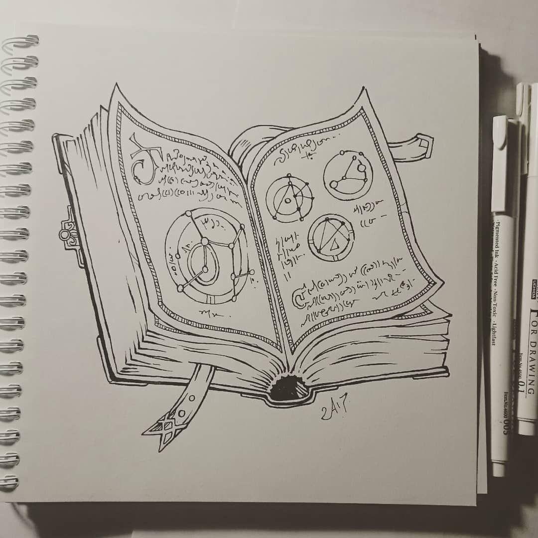 Spellbook For One Of My Patrons On Patreon Www Patreon Com Candra Art Illustration Risunok Draw Picture Fantasy Artist Ske Magic Design Art Spell Book