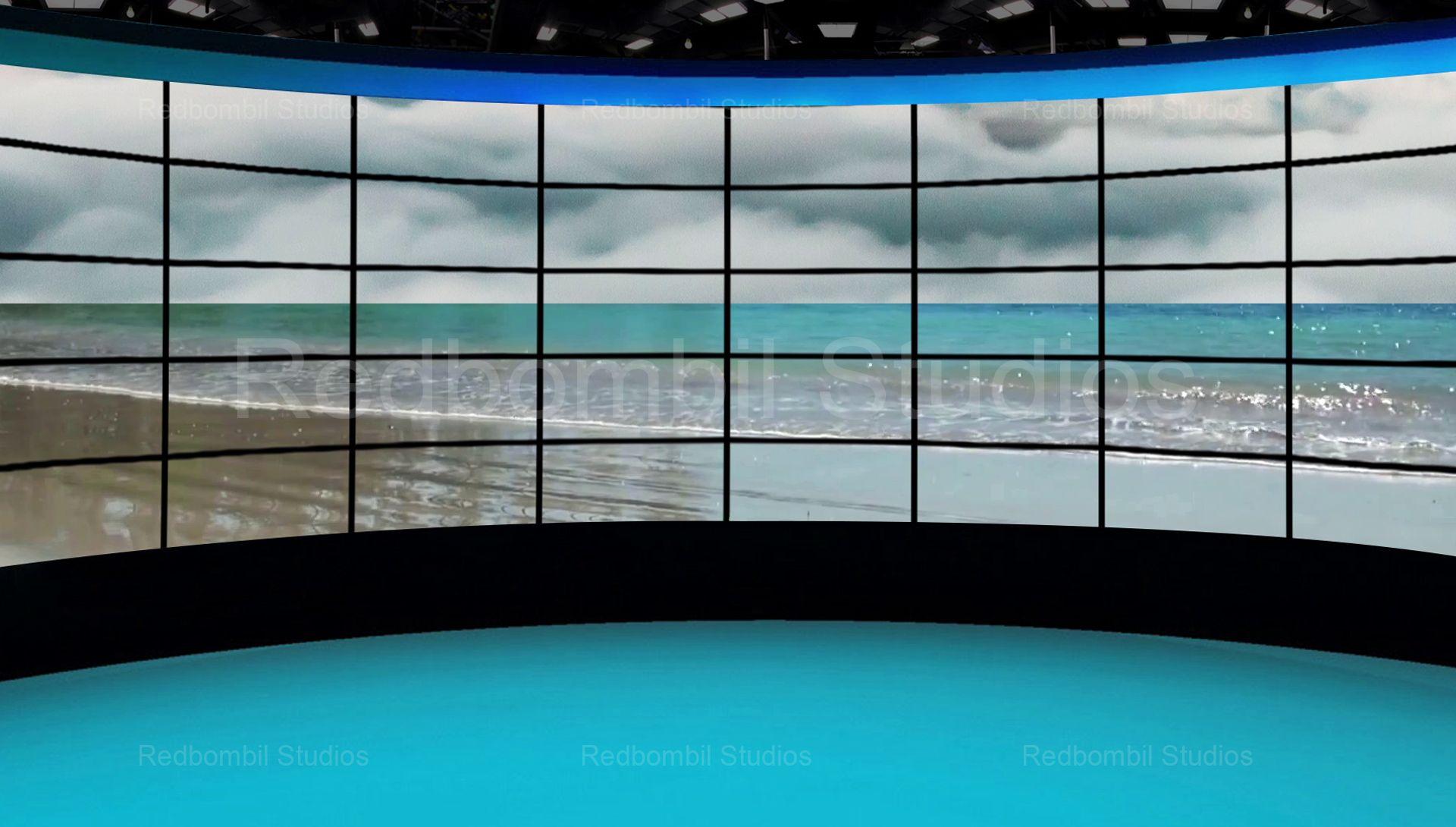 News 36 Broadcast TV Studio Green Screen Background Loopable