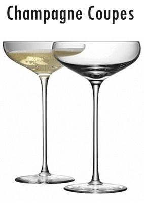 I asked my rental company for champagne coupes, and though they didn't have them, they're buying them!