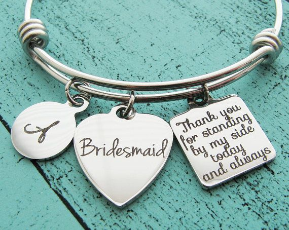 Maid Of Honor Gift Proposal Matron Personalized Wedding Jewelry Bridal Party