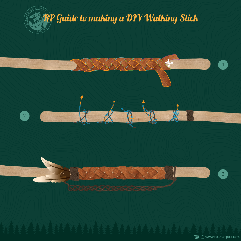 Diy Walking Stick An Infographic Tutorial Walking