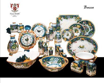 Collection Bacco. #italianceramics #handmade #madeinitaly #autumn