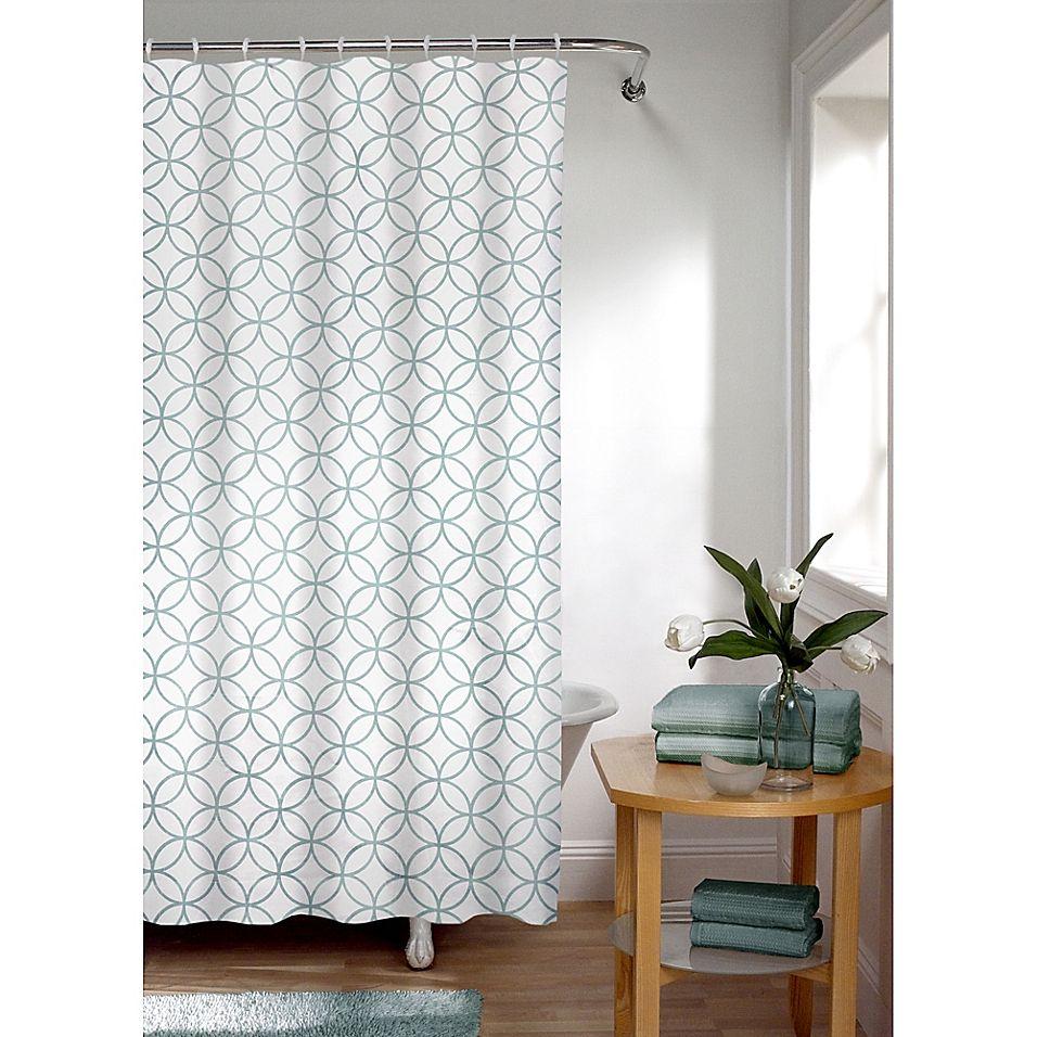 Smart Curtain Trellis Shower Curtain In Sea Foam Curtains
