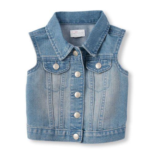 ef4b7ef8d Baby Girls Toddler Light Wash Denim Vest - The Children s Place ...