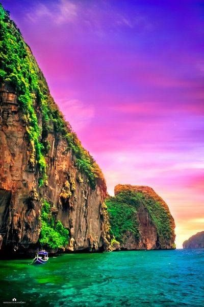 Phi Phi Island, Thailand and I will have to take Evan since he told me about this location!