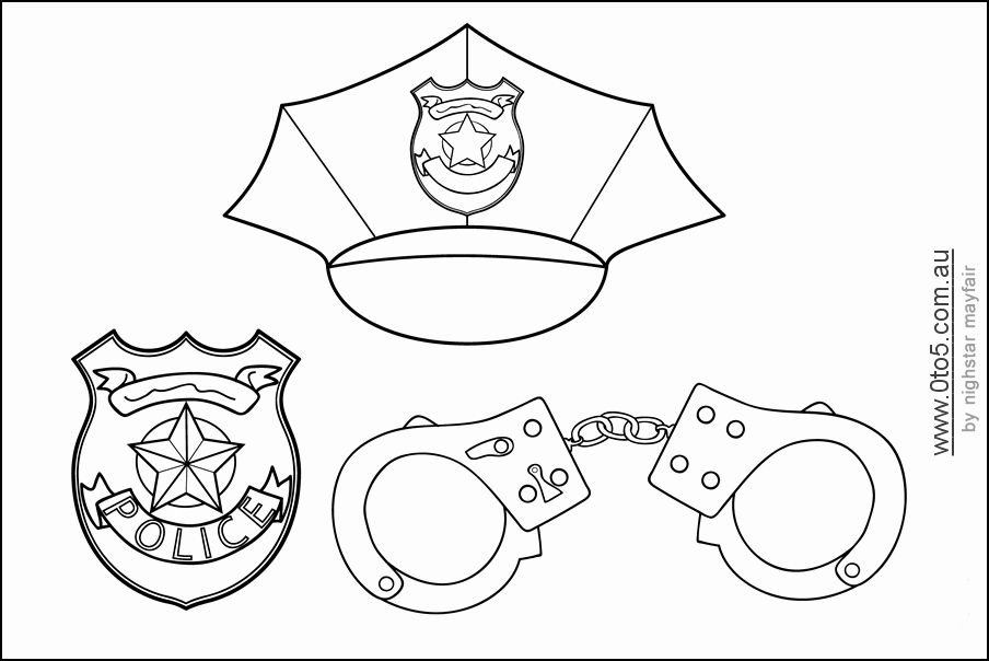 Police Badge Coloring Page Elegant Free Police Badge Template Download Free Clip Art Free In 2020 Community Helpers Theme Community Helpers Unit Community Workers