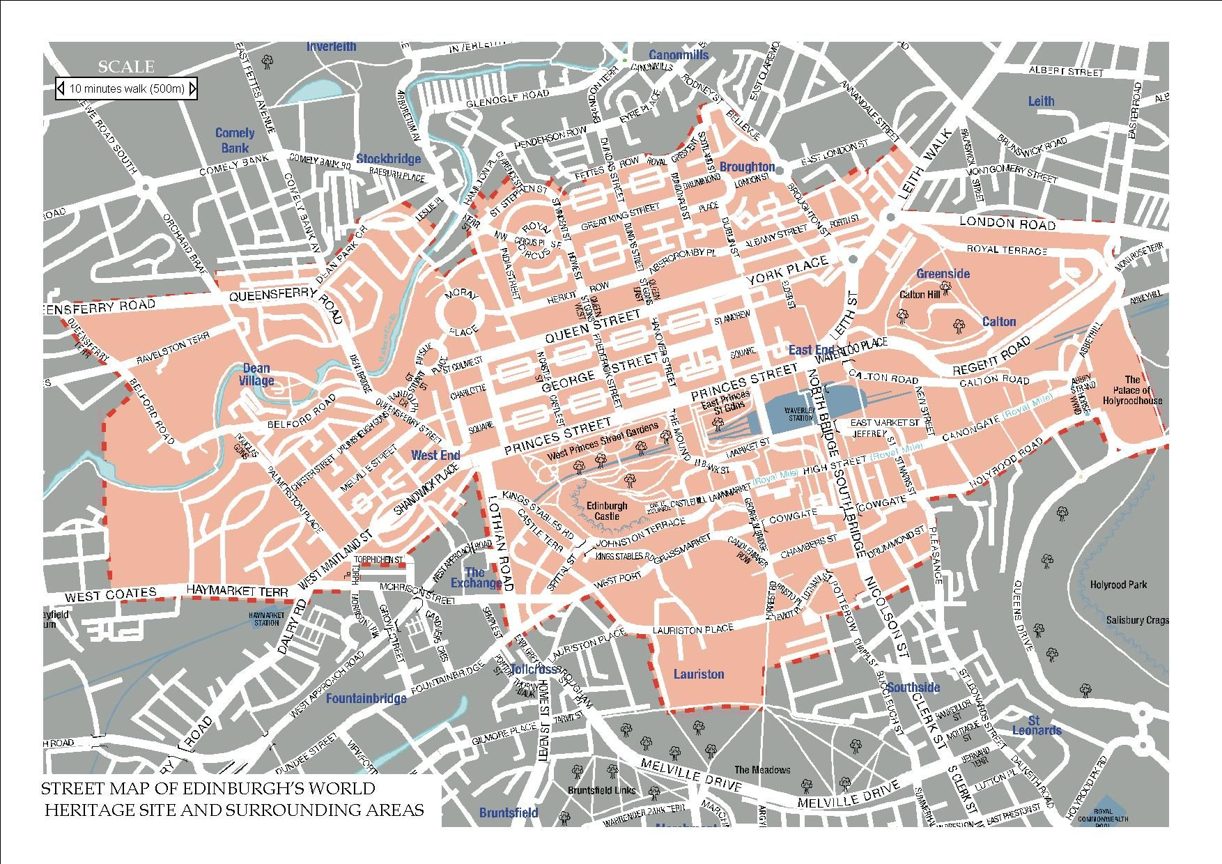 edinburgh world heritage site map  maps and globes  pinterest  - edinburgh world heritage site map
