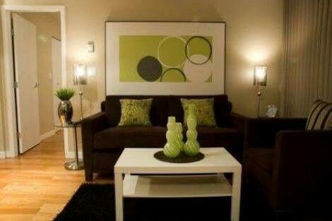 Colores Para Combinar Con Sala Cafe Brown And Green Living Room Brown Living Room Decor Living Room Green