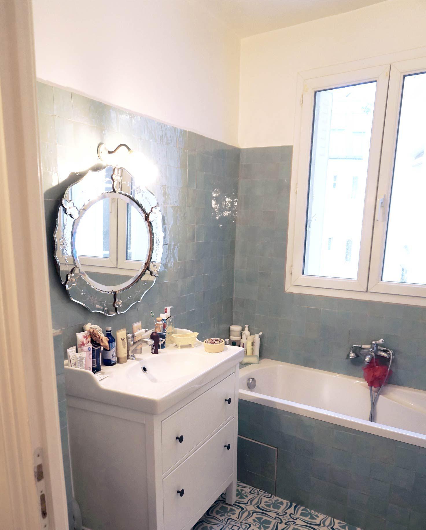Salle De Bain Zellige Bleu ~ chez sucre d orge la salle de bains adorables carreaux de pl tre