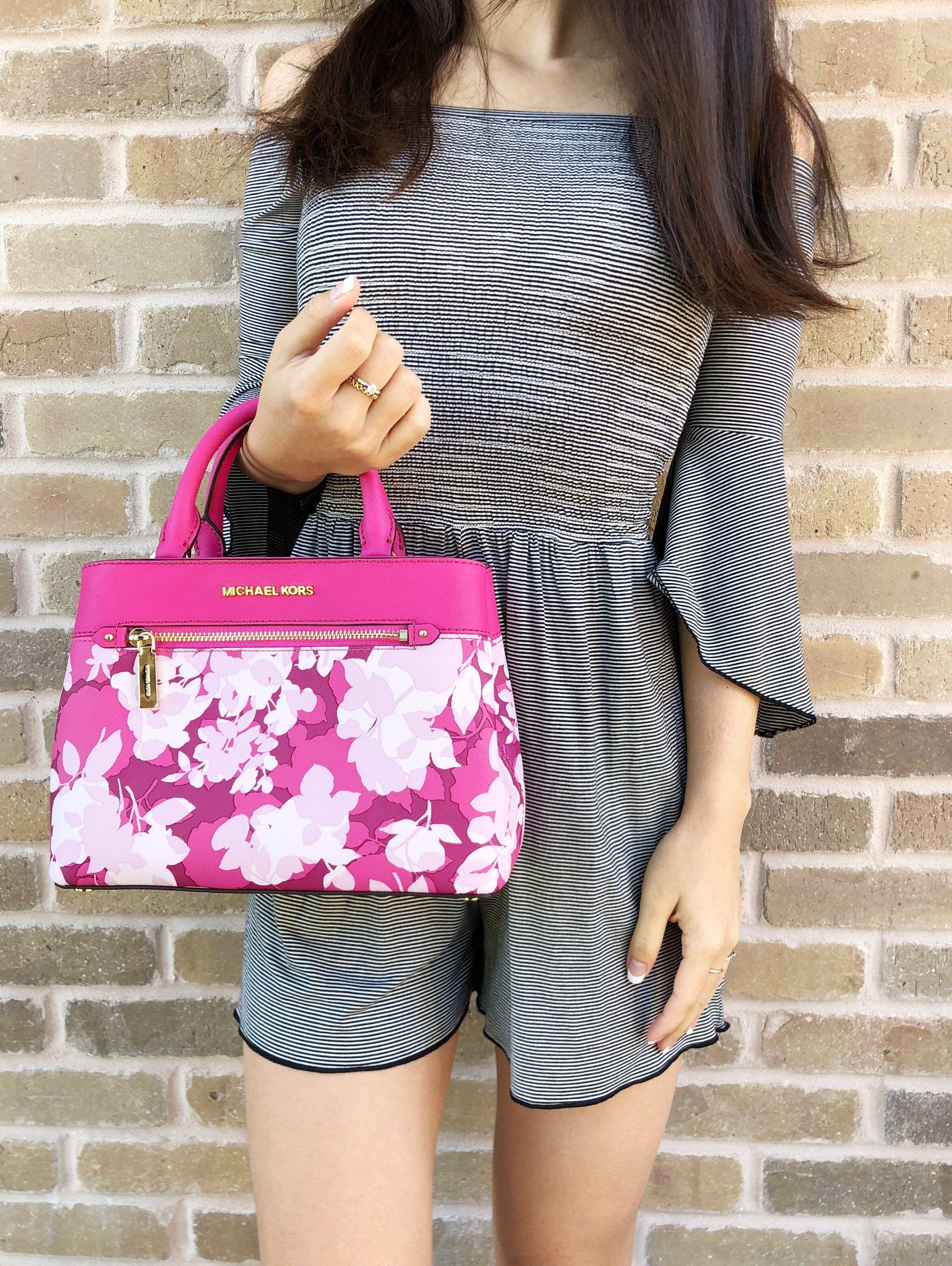 6ffbb8be62f7 Michael Kors Hailee Kellen XS Satchel Small Crossbody Granita Pink White  Floral #ebayfashion #ebaystore #posh #ebayresellers #poshmarkpackages  #mercaricode ...